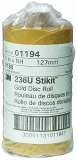 3M - 01194 - Stikit Gold Disc Roll, 01194, 5 inch, P180A