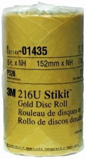 3M - 01435 - Stikit Gold Disc Roll, 01435, 6 inch, P320A