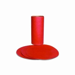 3M - 01610 - Red Abrasive PSA Disc, 5 in, P80 D Weight, 100 discs per roll