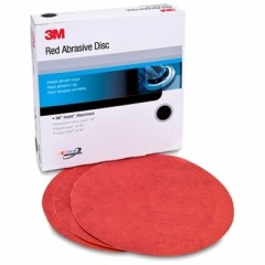 3M - 01678 - Red Abrasive Hookit Disc, 8 in, 40 D Weight, 25 discs per box - 60455053359