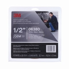 3M - 06380 - Automotive Attachment Tape, 06380, White, 1/2 in x 20 yd, 45 mil