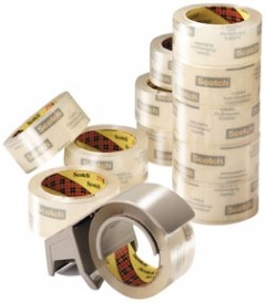 3M - 06635 - Scotch Commercial Grade Shipping Packaging Tape 3750-12-DP3, 1.88 in x 54.6 yd 12 rolls with Dispenser - 70005072981