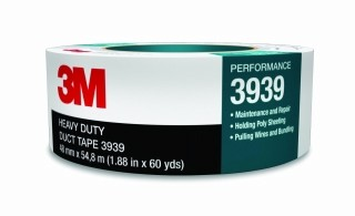 3M - 06975 - Duct Tape 3939 Silver, 48 mm x 54.8 m 9.0 mil, Individually Wrapped, 06975