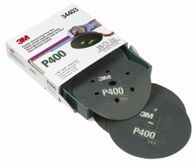 3M - 34403 - Hookit Flexible Abrasive Dust Free Disc, 34403, 6 in 7H, P400, 25 disc per box - 60455072649