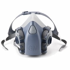 3M - 37081 - 7501 Half Facepiece Reusable Respirator (AAD) Small  - 70071042777