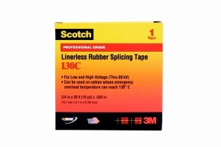 3M - 41717 - Scotch 130C Premium Linerless Rubber Splicing Tape, 3/4 inch x 30 feet