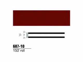 3M - 68710 - Scotchcal Striping Tape, Burgundy, 1/4 in x 150 ft - 75346843693