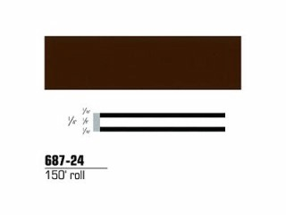 3M - 68724 - Scotchcal Striping Tape, Dark Brown, 1/4 in x 150 ft - 75346843735