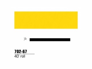 3M - 70267 - Scotchcal Striping Tape, 1/8 inch, Bright Yellow, 70267