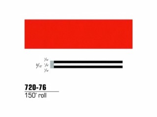 3M - 72076 - Scotchcal Striping Tape Tomato Red, 3/16 in x 150 ft - 75346519145
