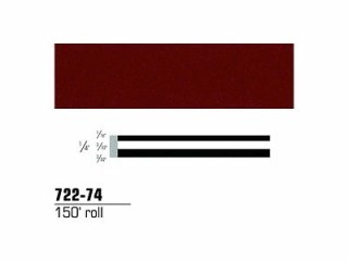 3M - 72274 - Scotchcal Striping Tape, Burgundy Metallic, 1/4 in x 150 ft - 75346019203
