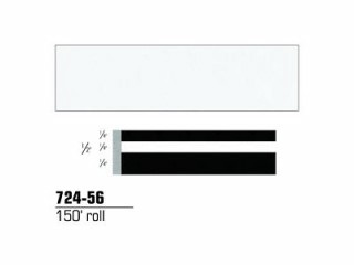 3M - 72456 - Scotchcal Striping Tape, Bright White, 1/2 in x 150 ft - 75346690185