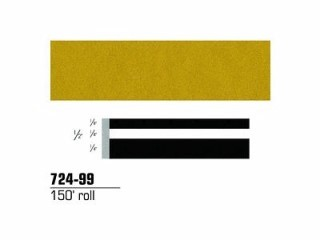 3M - 72499 - Scotchcal Striping Tape, Bright Gold Metallic, 1/2 in x 150 ft - 75346423314
